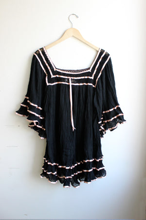 Load image into Gallery viewer, Janis Contrast Ribbon Tunic