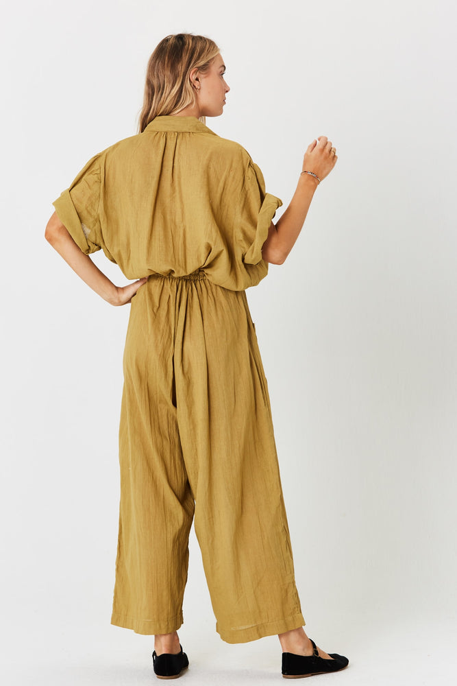 Load image into Gallery viewer, Jibarita Basil Jumpsuit