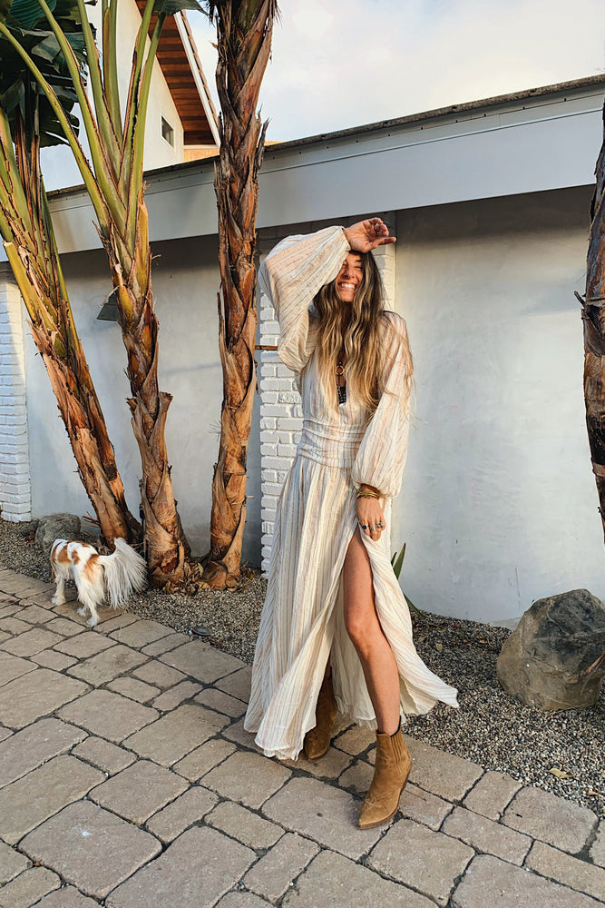 Load image into Gallery viewer, Sunset Lapis Maxi Dress