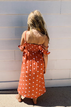 Little Polka Dot Slipper Maxi Dress