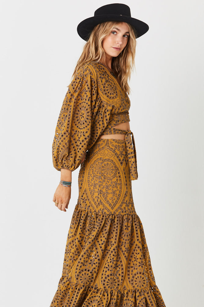 Load image into Gallery viewer, Golden Sand Wrap Top