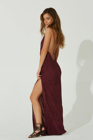 Load image into Gallery viewer, Monroe Backless Slip Dress