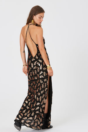 Load image into Gallery viewer, Paisley Element Slip Dress