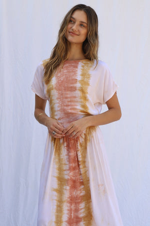 Load image into Gallery viewer, Tie Dye Rio Navi Dress
