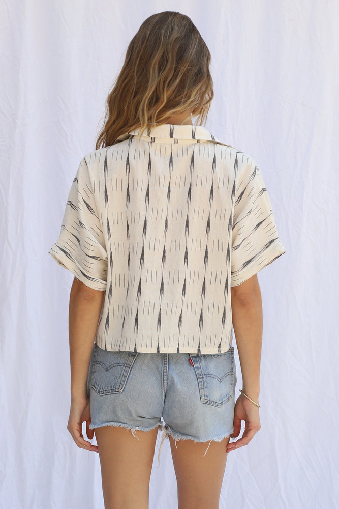 Ikat Skull Rock Crop Top