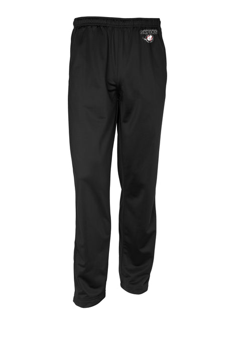 Embroidered Mens Tricot Track Pant in black PST91