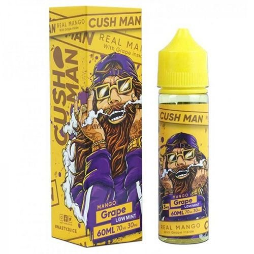 E-LIQUID NASTY CUSH MAN MANGO GRAPE LOW MINT 3mg teor- 60ml