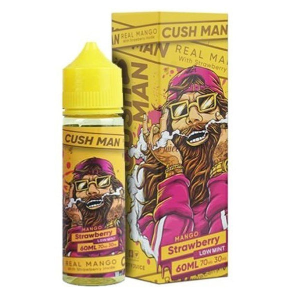 E-LIQUID NASTY CUSH MAN MANGO STRAWBERRY LOW MINT 03mg teor- 60ml