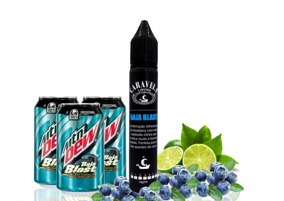 E-LIQUID - CARAVELA - BAJA BLAST - 03mg TEOR - 30ml