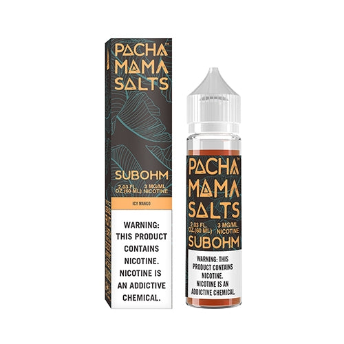 E-LIQUID PACHA MAMA SALTS SUBOHM - ICY MANGO - 03mg teor - 60ml