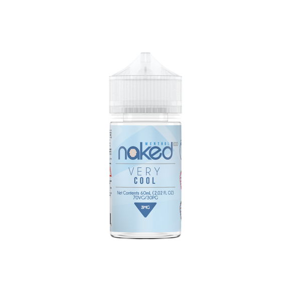 E-LIQUID NAKED 100 - VERY COOL MENTHOL - 03mg teor - 60ml