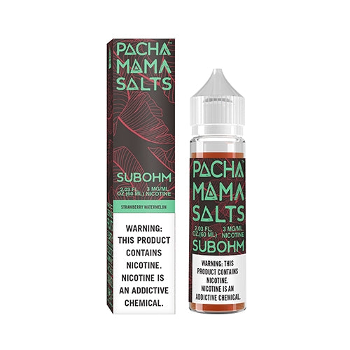 E-LIQUID PACHA MAMA SALTS SUBOHM - STRAWBERRY WATERMELON - 03mg teor - 60ml