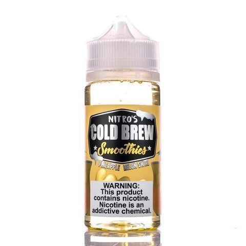 E-LIQUID COLD BREW SMOOTHIES - PINEAPPLE MELON SWIRL - 03mg TEOR - 100ml