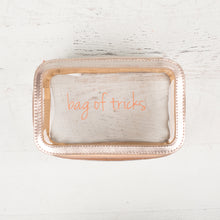 Rose Gold Clear Travel Case