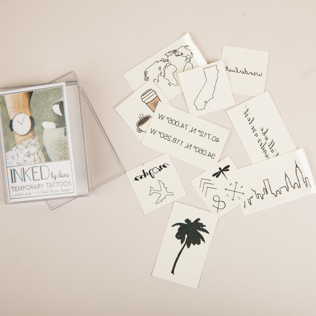 Jet Setter Temporary Tattoo