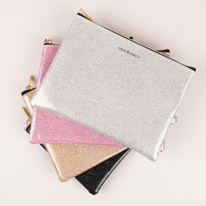 Sage & Emily Metallic Glitter Cosmetic Bag