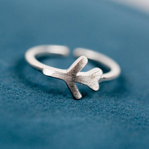 Silver Airplane Ring