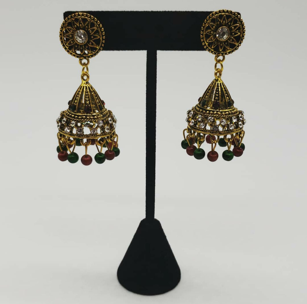 Earrings (Red/Green)
