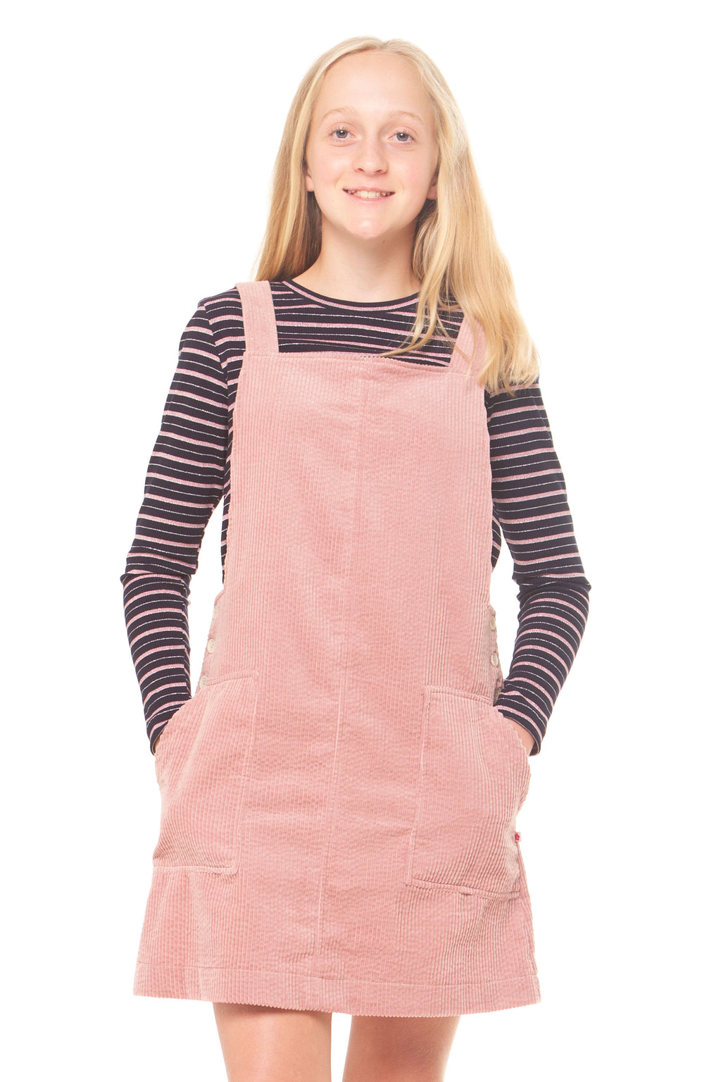 Tayla Pinafore - Blush