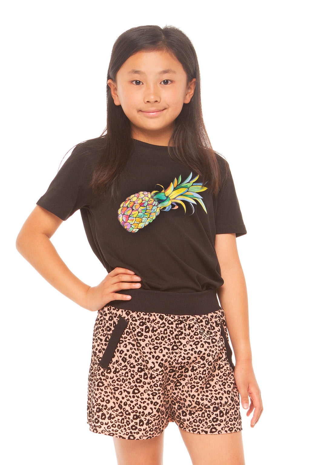 Pineapple Girls Tee - Black