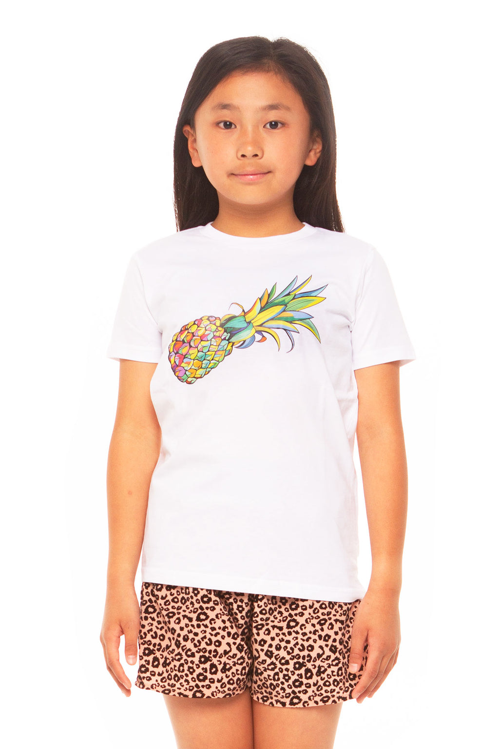 Pineapple Girls Tee - White