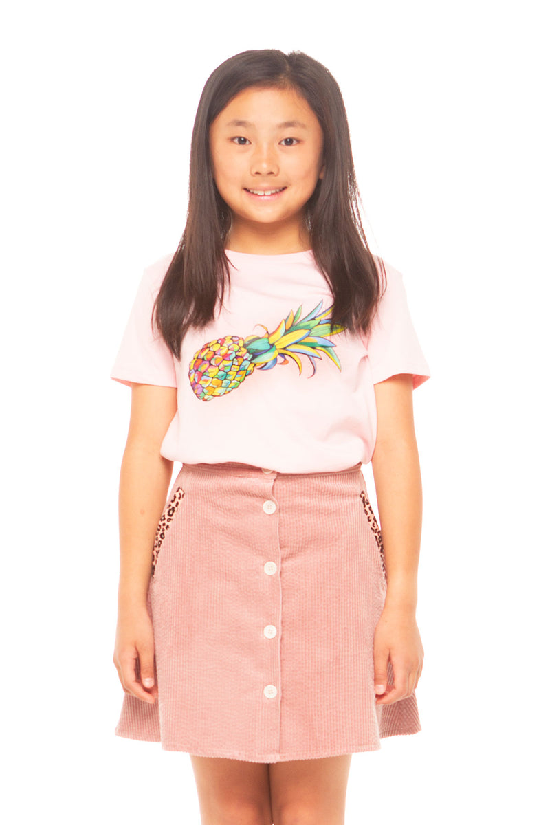 Pineapple Girls Tee - Pink