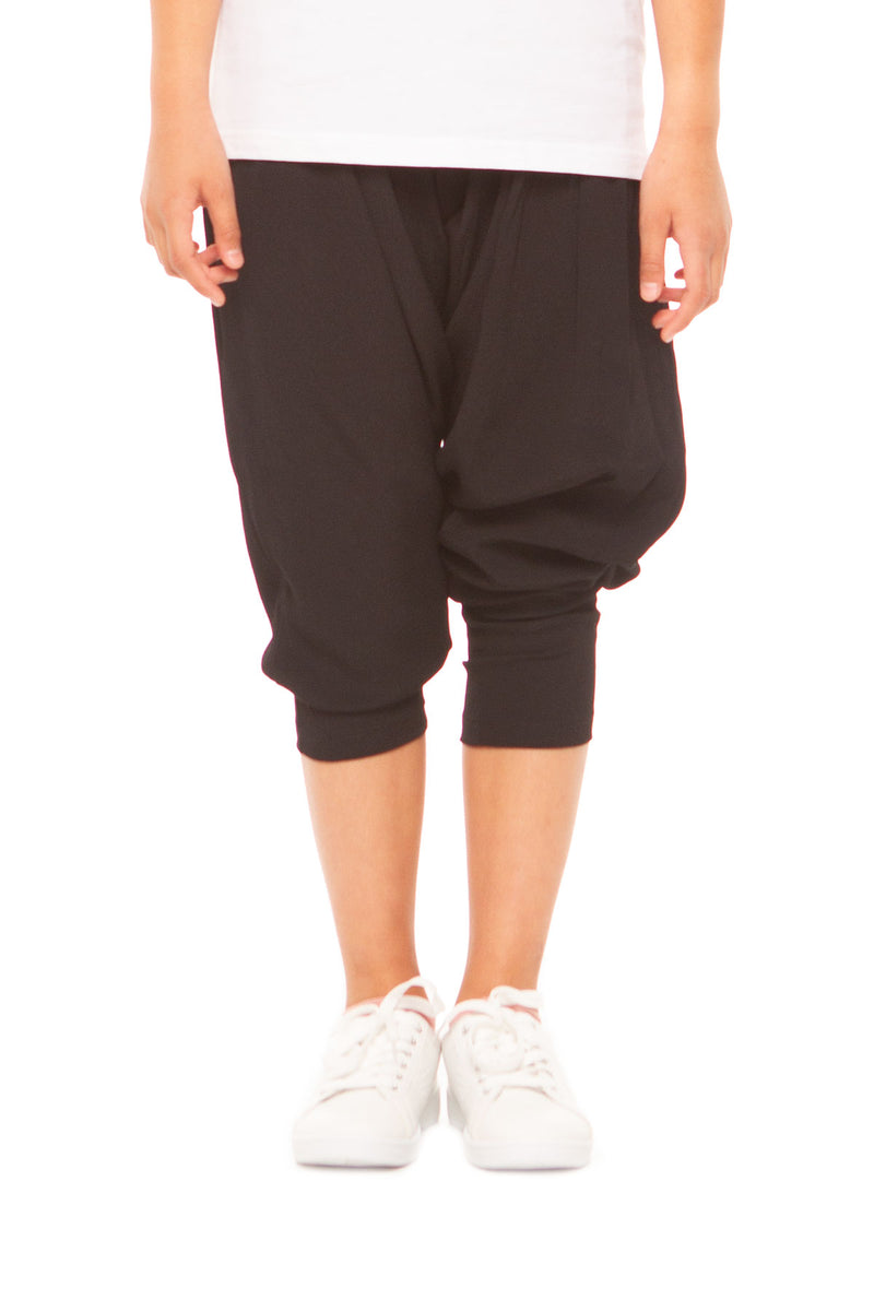 Stormi Girls Long Harem Pants – Black