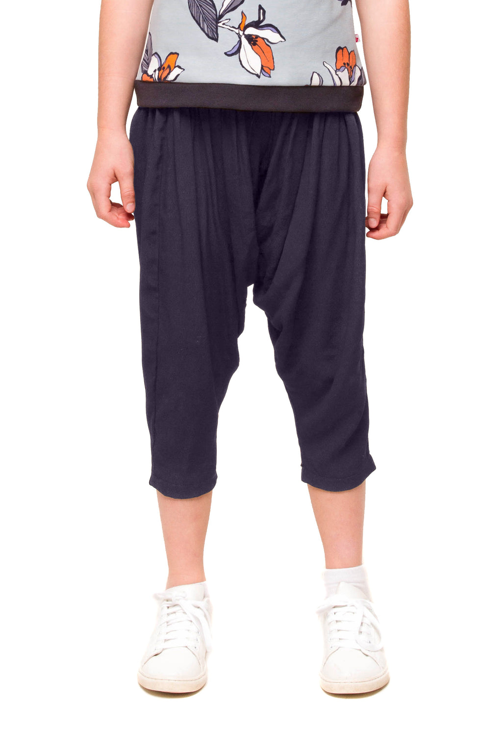 Harlowe Cropped Navy Harem Pants