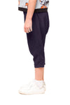 Harlowe Girls Cropped Harem Pants – Navy