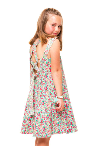 Tayla Girls Corduroy Pinafore - Blush
