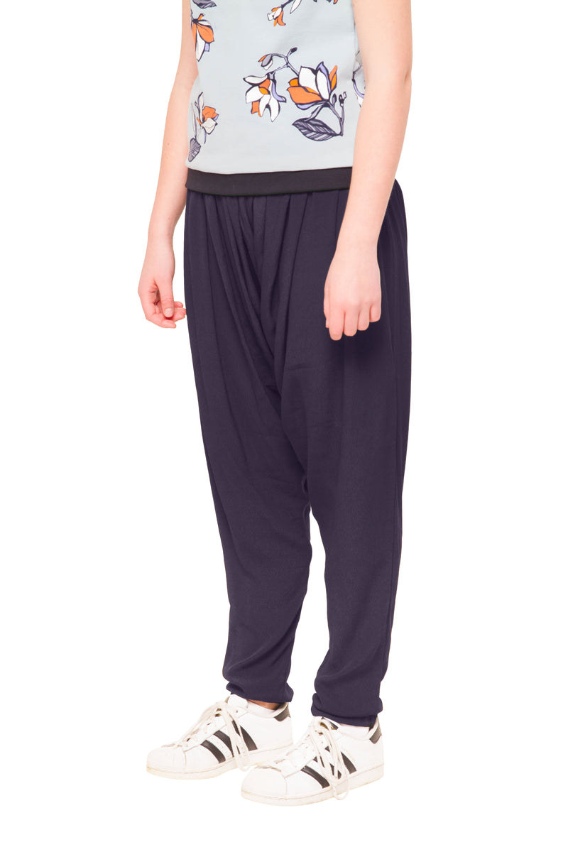 Stormi Long Navy Harem Pants