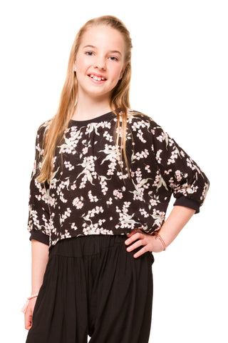 Rumer Girls Top - Animal Print