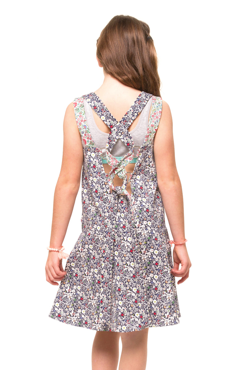Bardot Girls Denim Dress – Navy Floral