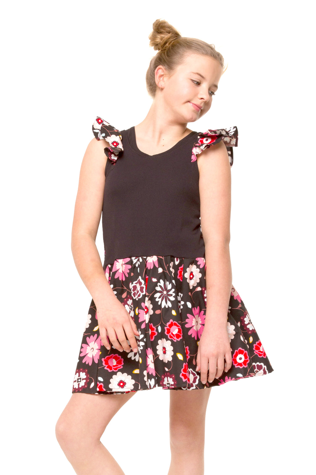 Scarlett - pink and red floral