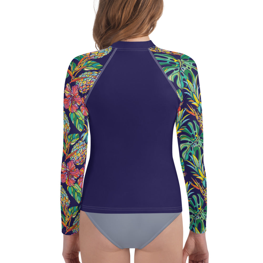 The Aloha Girls Rash Top - Navy