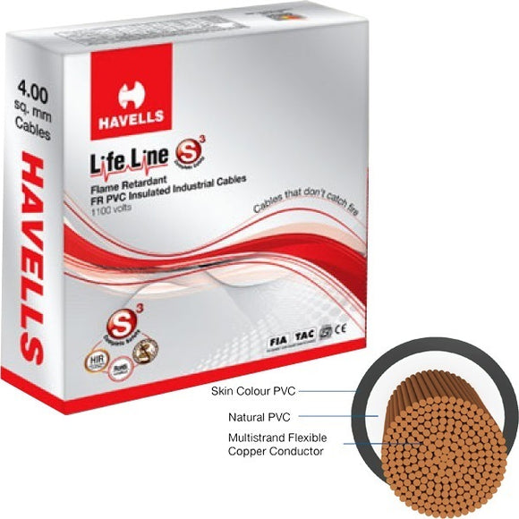 HAVELLS LIFELINE 4.00SQMM WIRE 90MTR CABLE - BROOT COMPUSOFT LLP