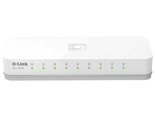 Dlink DES-1008C 8 Port  10/100 Unmanaged LAN Switch - BROOT COMPUSOFT LLP
