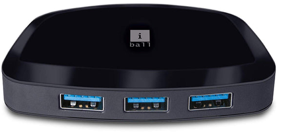 Iball Usb Hub 62-4 3.0 4 Port Piano - BROOT COMPUSOFT LLP