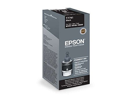 Epson Original Mono Ink Bottle T774 140 ml for Epson M100, M200, M105, M205 Printers Black Ink Cartridge - BROOT COMPUSOFT LLP