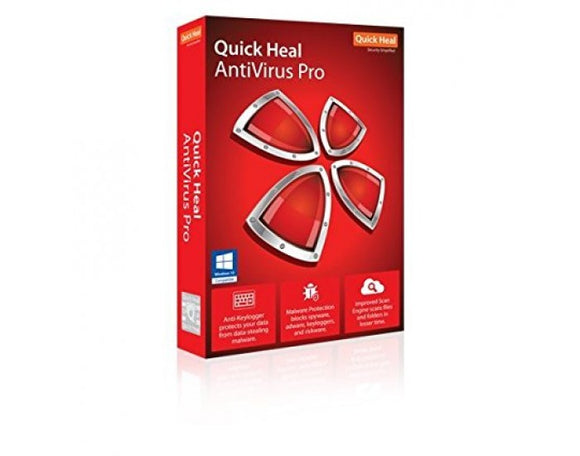 QUICK HEAL ANTIVIRUS PRO 1 USER 3 YEAR LS1 - BROOT COMPUSOFT LLP