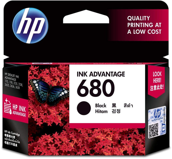HP ORIGINAL INK CARTRIDGE 680 BLACK - BROOT COMPUSOFT LLP