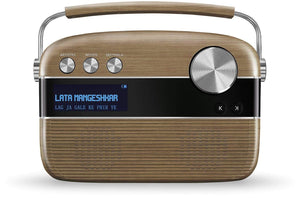 Saregama Carvaan Portable Wireless Speaker with USB FM Bluetooth & 5000 Pre Installed Songs - Walnut brown - BROOT COMPUSOFT LLP