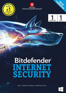 BITDEFENDER INTERNET SECURITY 1 USER 1 YEAR - BROOT COMPUSOFT LLP