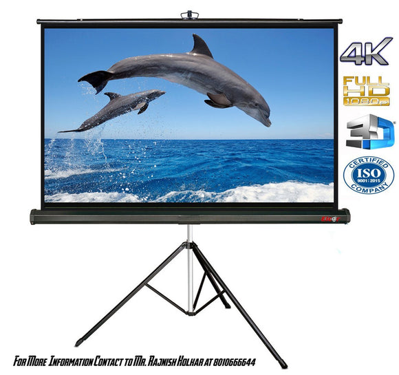 Projector Screen with Tripod Stand - BROOT COMPUSOFT LLP