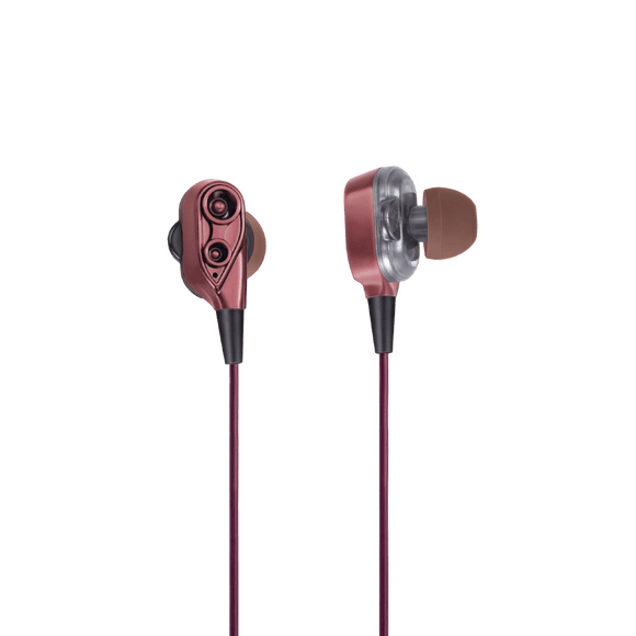 FINGERS Dual Driver Wired MusiPods W6 Earphones with Deep Bass and Mic