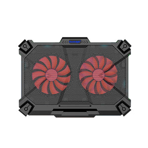 Cosmic Byte Comet Laptop Cooling Pad, Dual 140 mm Fans, LED Lights, FAN speed adjustment, USB ports, Support Upto 17 Laptops - BROOT COMPUSOFT LLP