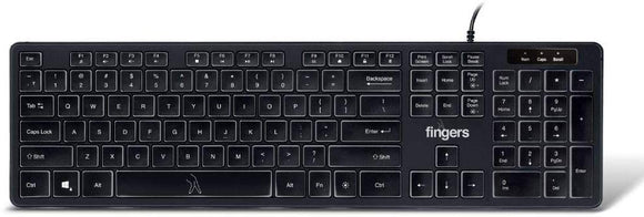 Fingers Magnifico Moonlit Usb Keyboard - BROOT COMPUSOFT LLP