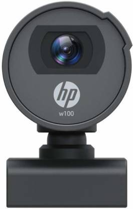 HP w100 480p/30 Fps Webcam, Built-in Mic, Plug and Play, Wide-Angle View for Video Calling, Skype, Zoom, Microsoft Teams