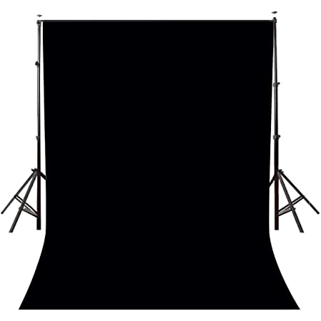 Photography Background Cloth for Photoshoot Portrait Video Shooting Screen Cloth (8x12 ft) (Black)