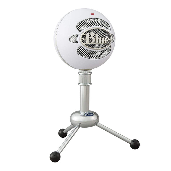 Blue Snowball USB Microphone with Two Versatile Pickup Patterns and Stylish, Retro Design for Recording, Streaming & Podcasting on PC & Mac – Textured White